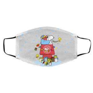 Atlanta Hawks Santa Snoopy Wish You A Merry Christmas face mask