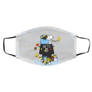 Brooklyn Nets Santa Snoopy Wish You A Merry Christmas face mask