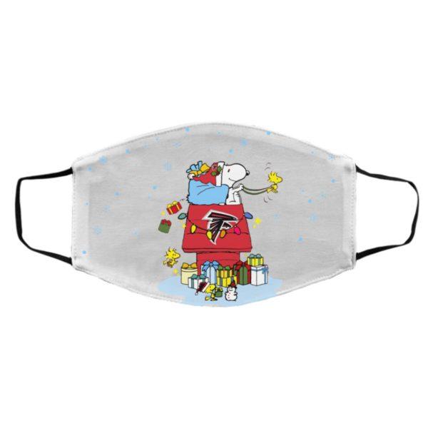 Atlanta Falcons Santa Snoopy Wish You A Merry Christmas face mask