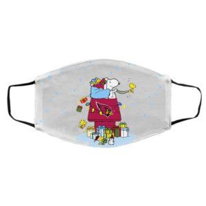 Arizona Cardinals Santa Snoopy Wish You A Merry Christmas face mask