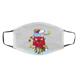 Chicago Bulls Santa Snoopy Wish You A Merry Christmas face mask