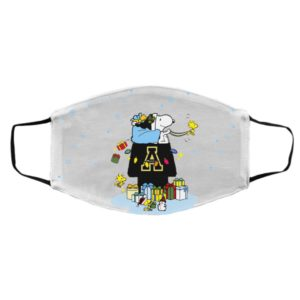 Appalachian State Mountaineers Santa Snoopy Wish You A Merry Christmas face mask