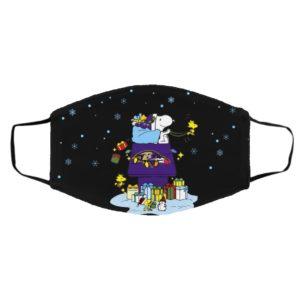 Baltimore Ravens Santa Snoopy Wish You A Merry Christmas face mask