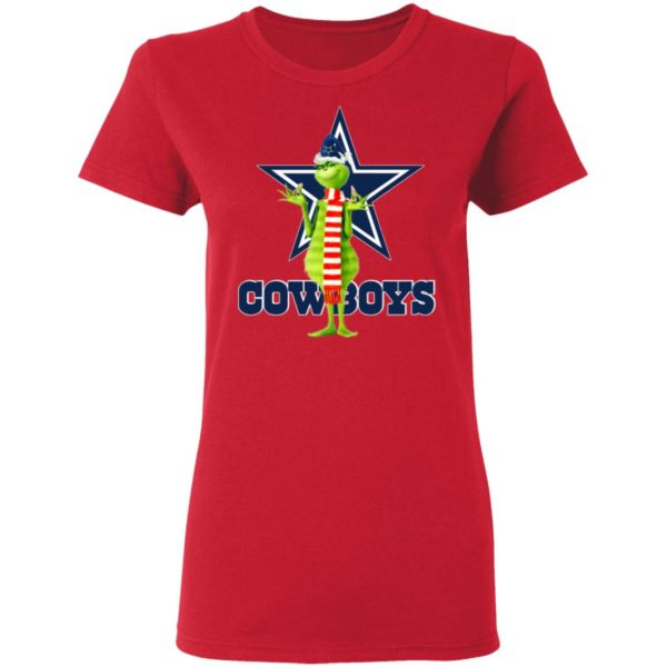 Santa Grinch Dallas Cowboys Christmas Shirt, Long Sleeve