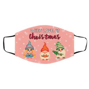 3 Gnome With Love At Christmas Face Mask