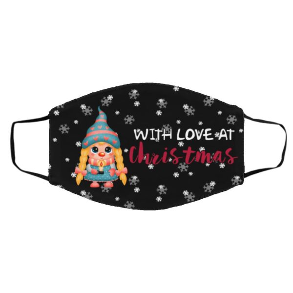 Gnome With Love At Christmas Face Mask