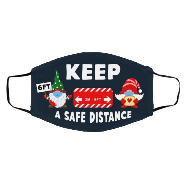 Gnome 2m 6ft Keep Safe Distance At Christmas Face Mask