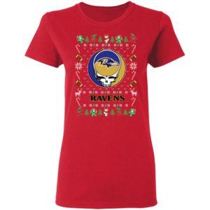 Baltimore Ravens Gratefull Dead Ugly Christmas Sweater