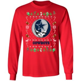 Dallas Cowboys Gratefull Dead Ugly Christmas Sweater