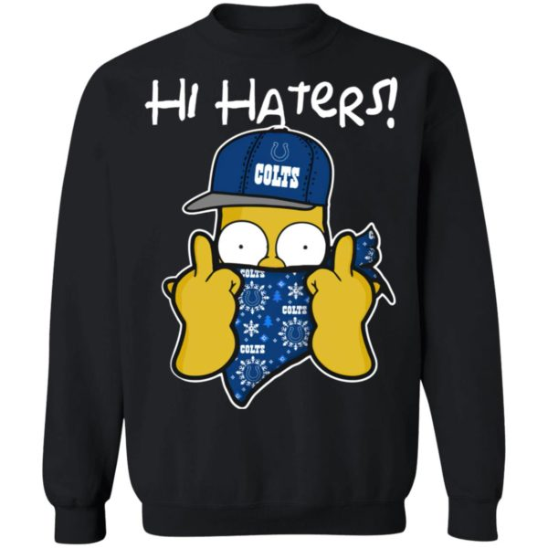 Hi Hater The Simpsons Christmas Gangster Indianapolis Colts Shirt
