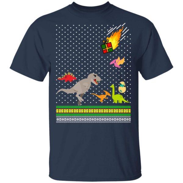 Dino T-rex Tyrannosaurus Ugly Christmas Sweatshirt