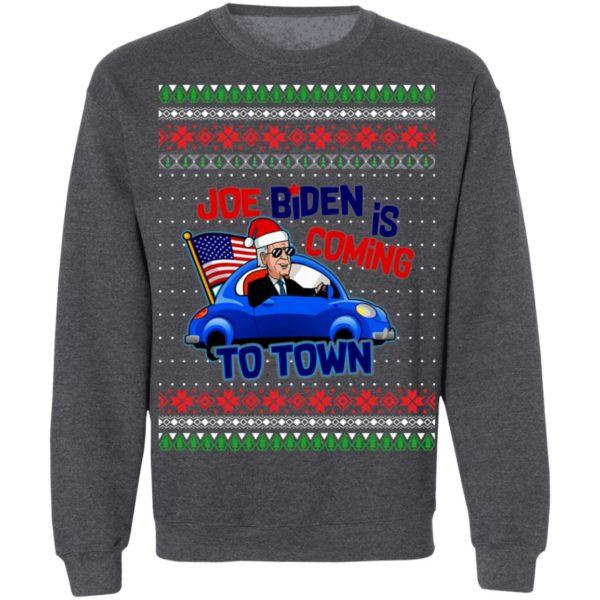 Biden Is Coming To Town New President Potus 2020 Ugly Christmas Sweatshirt
