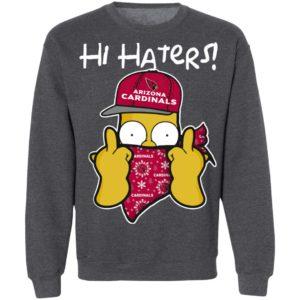 Hi Hater The Simpsons Christmas Gangster Arizona Cardinals Shirt