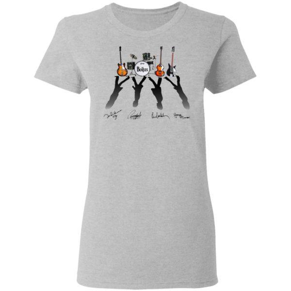 Ludwig The Beatles Band Guitars And Drum Signatures Shirt