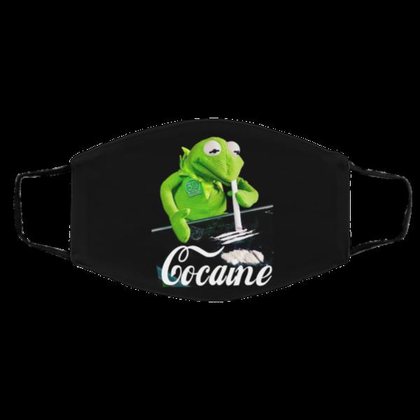 Kermit The Frog Doing Coke Face Mask