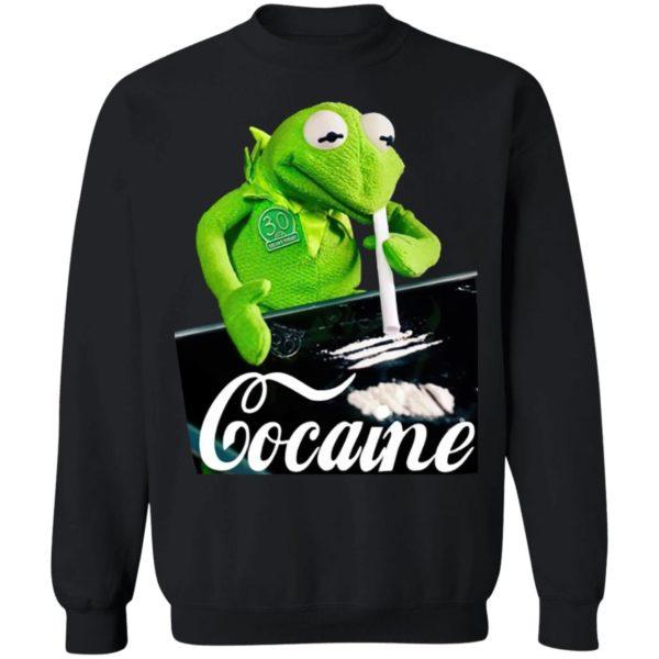 Kermit The Frog Doing Coke Shirt, Hoodie, LS