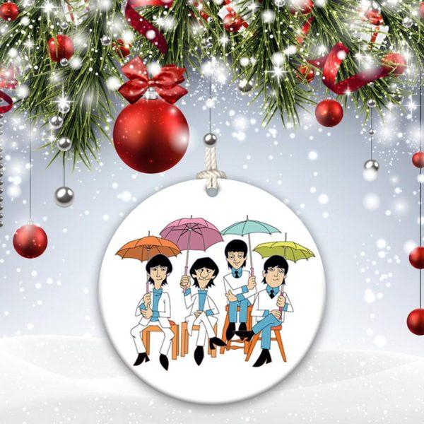 The Beatles John Lennon, Paul McCartney, Ringo Starr, George Harrison, Christmas Ornament