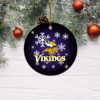 Minnesota Vikings Merry Christmas Circle Ornament