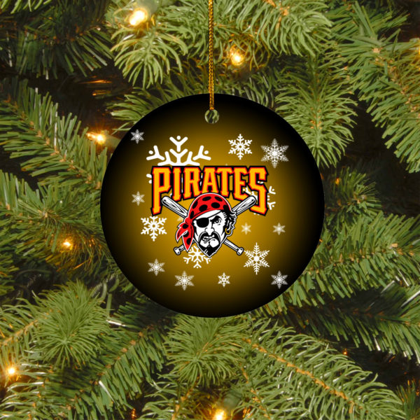 Pittsburgh Pirates Merry Christmas Circle Ornament