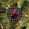 Johnny Cash Merry Christmas Circle Ornament