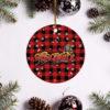 Aerosmith Merry Christmas Circle Ornament