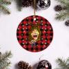 Eddie Van Halen Merry Christmas Circle Ornament
