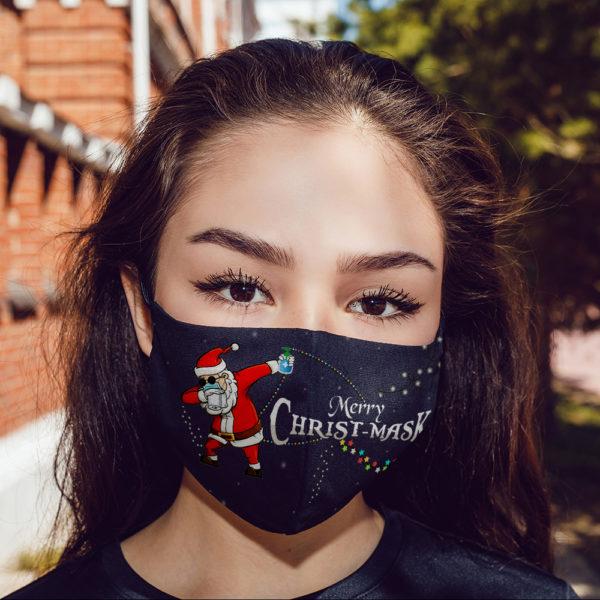 Funny Merry Christ-mask Santa Dabbing Wearing Mask Christmas Face Mask