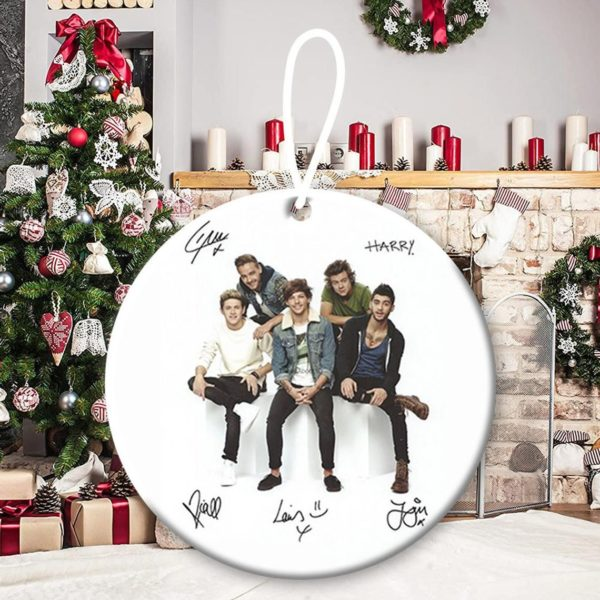 One Direction 7, Niall Horan, Liam Payne, Harry Styles, Louis Tomlinson, Zayn Malik, 1D, pop band, Up All Night Christmas Decorative Ornament
