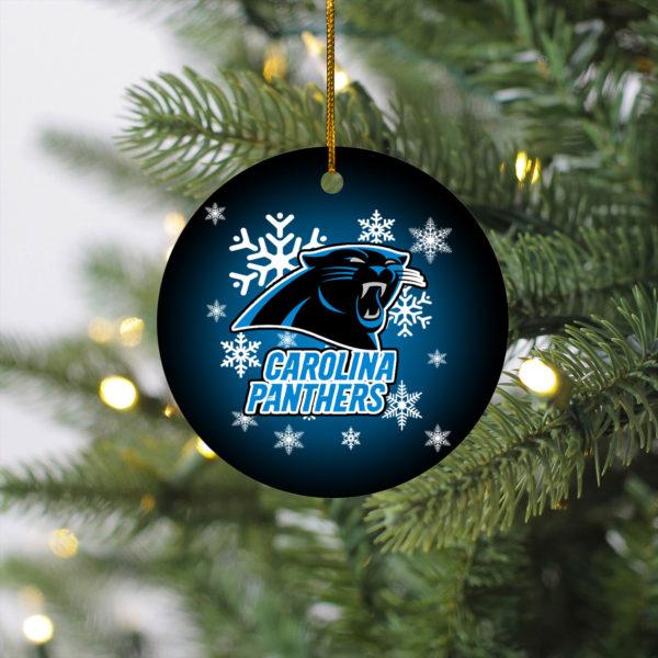 Carolina Panthers Christmas Merry Christmas Circle Ornament