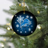 Detroit Lions Christmas Merry Christmas Circle Ornament