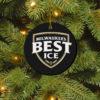 Milwaukee_s Best Ice Merry Christmas Circle Ornament