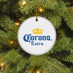 Corona Extra Merry Christmas Circle Ornament