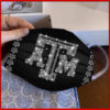 Texas A&M Aggies glitter diamond cloth face mask reusable
