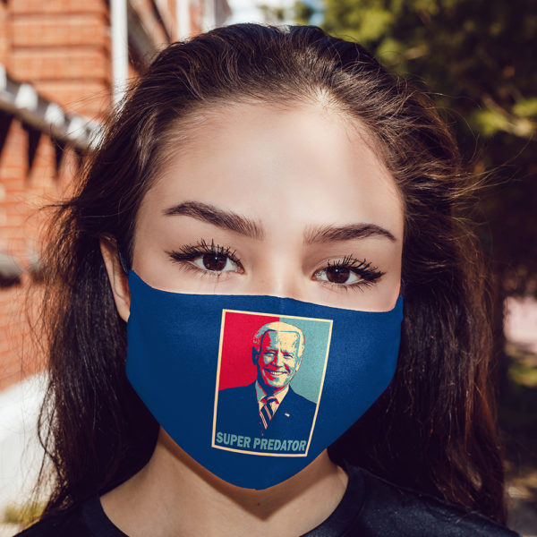 Black Americans Super-Predator Dumb Joe Biden Face Mask