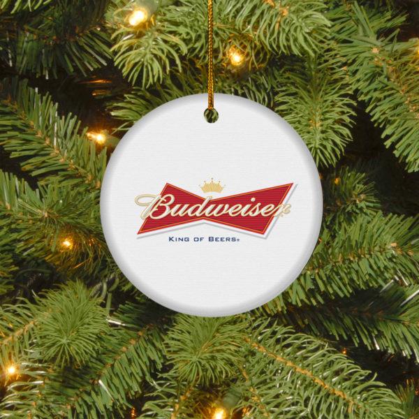 Budweiser Merry Christmas Circle Ornament