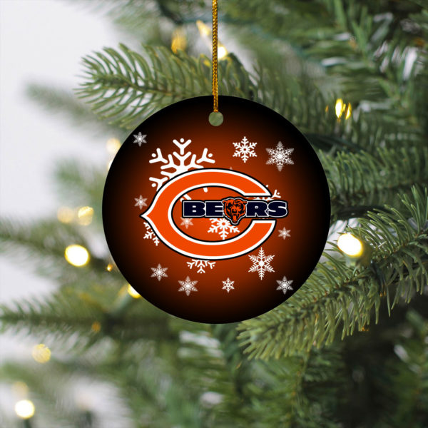 Chicago Bears Christmas Merry Christmas Circle Ornament