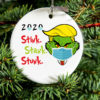 2020 Donald Trump Grinch Quarantine Christmas Ornament