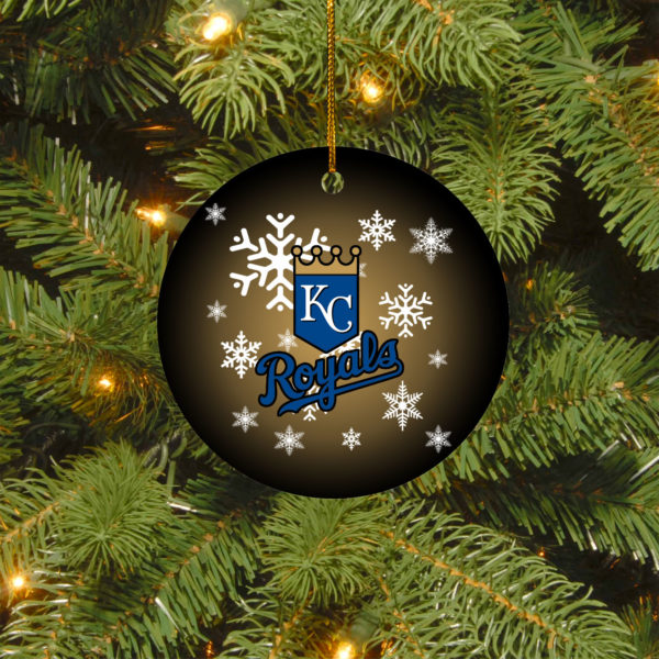 Kansas City Royals Merry Christmas Circle Ornament