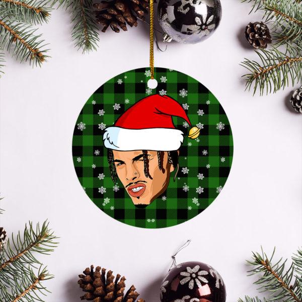 Rauw Alejandro Merry Christmas Circle Ornament