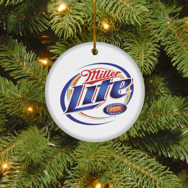 Miller Lite Merry Christmas Circle Ornament