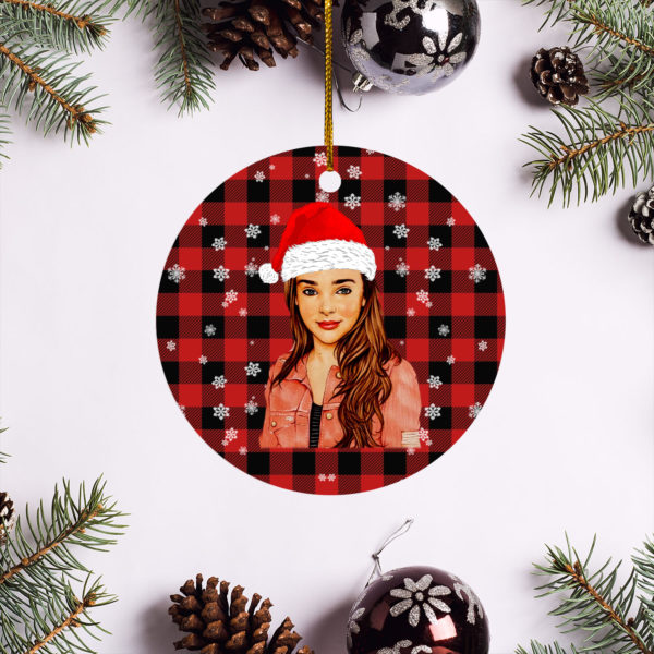 Kendall Vertes Merry Christmas Circle Ornament