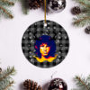 Jim Morrison Merry Christmas Circle Ornament