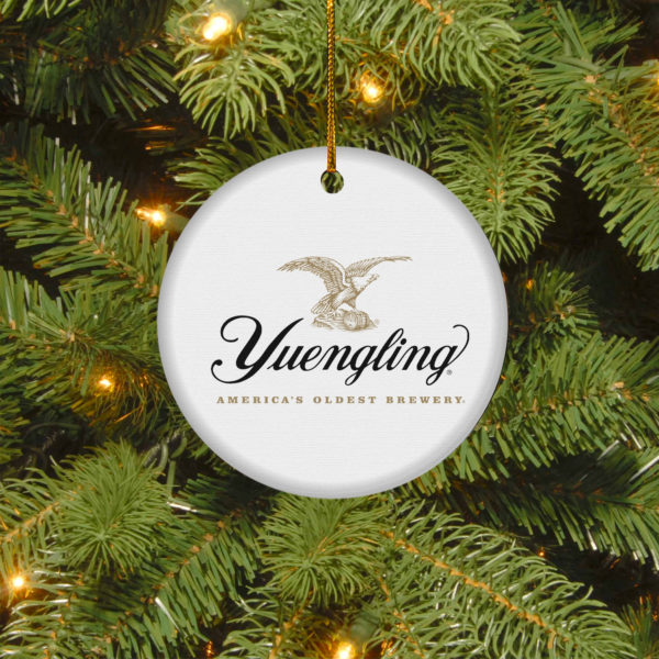 Yuengling Lager Merry Christmas Circle Ornament