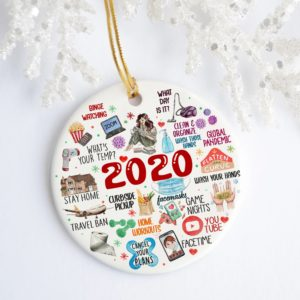 2020 Pandemic Quarantine Christmas Decorative Ornament