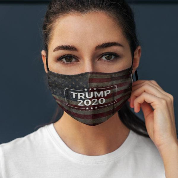 Donald Trump 2020 Riveted Metal American Flag Face Mask