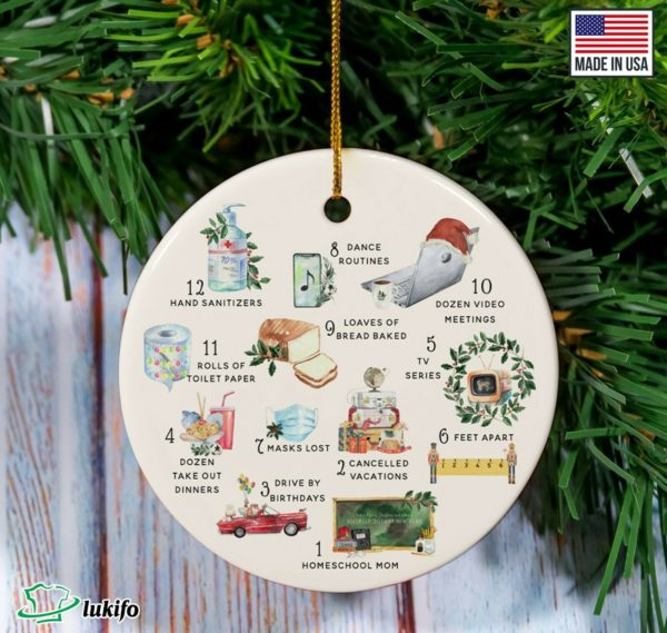 12 Days Of Corona ornament - 2020 Pandemic Quarantine Christmas ornament