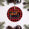 Guns N_ Roses Merry Christmas Circle Ornament