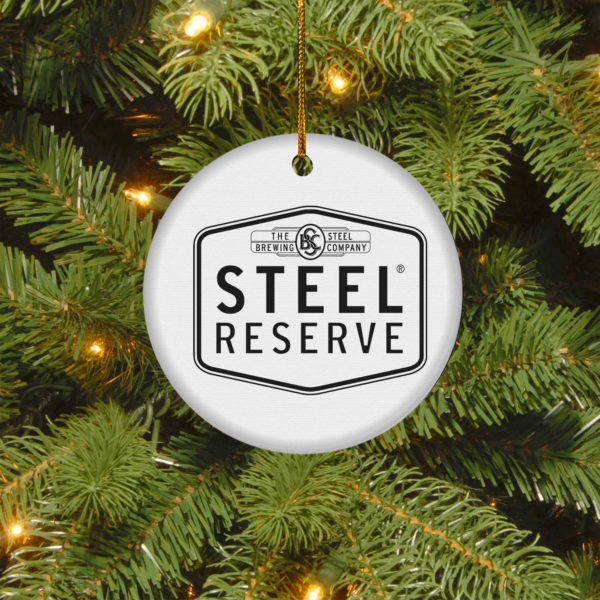 Steel Reserve Merry Christmas Circle Ornament