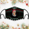 Notorious Rbg Merry Resistmas Ruth Ugly Face Mask