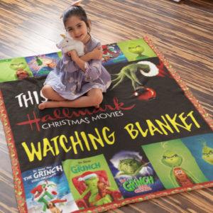 This Is My Hallmark Christmas Movies Watching Blanket Grinch Christmas Fleece Blanket, Sherpa Blanket